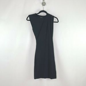 T by Alexander Wang Sleeveless Ruched Black Dress